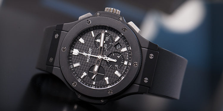 Big Bang Chronograph Dark Grey and Black Dial White stick Indices