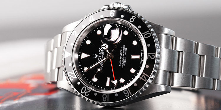 Rolex GMT Master II with black dial