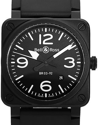 Bell and Ross BR03-92 BR0392 BLACK MATTE